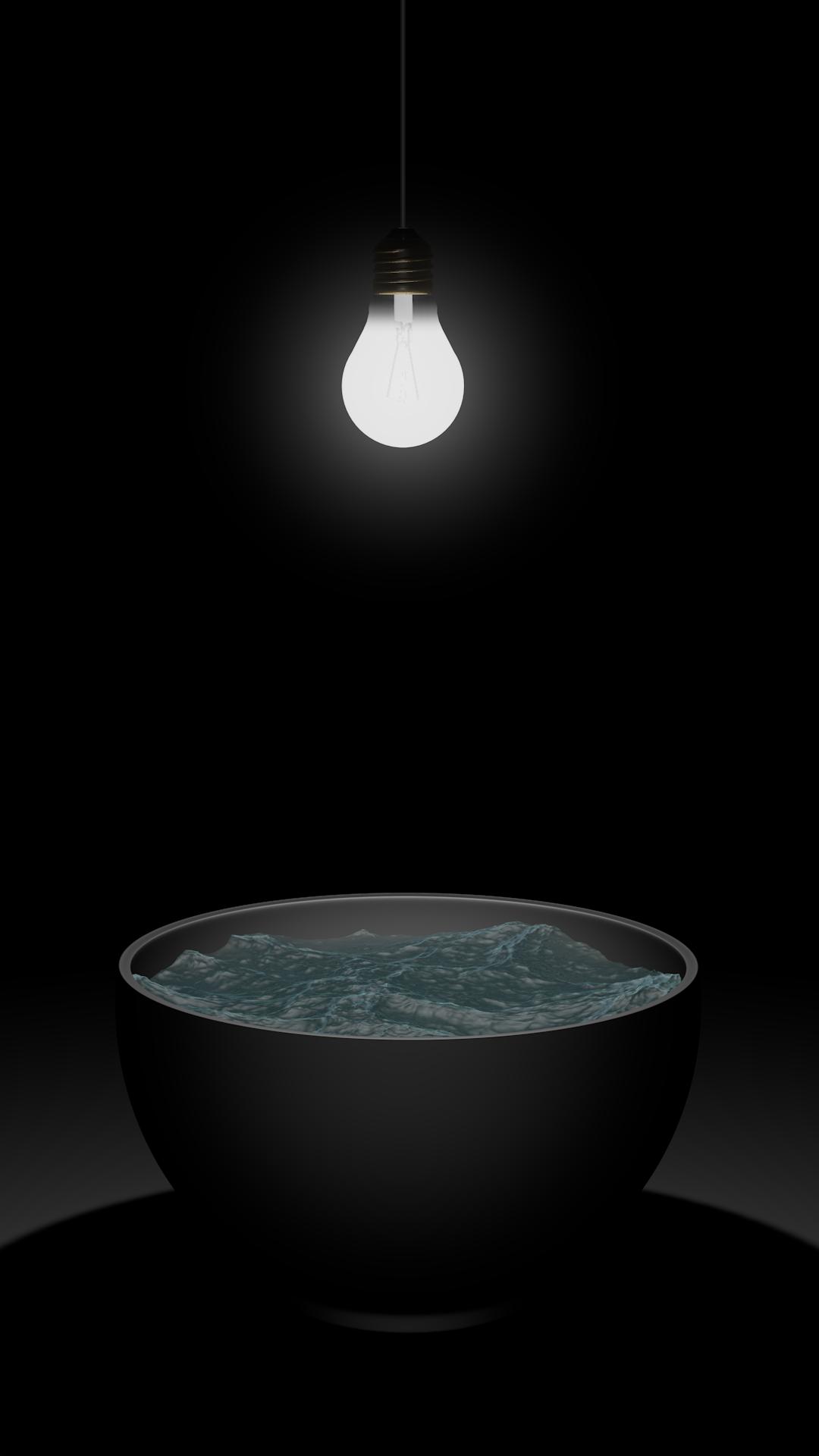 Danberg_4d-Stillleben_Wasserschale mit Glühbirne