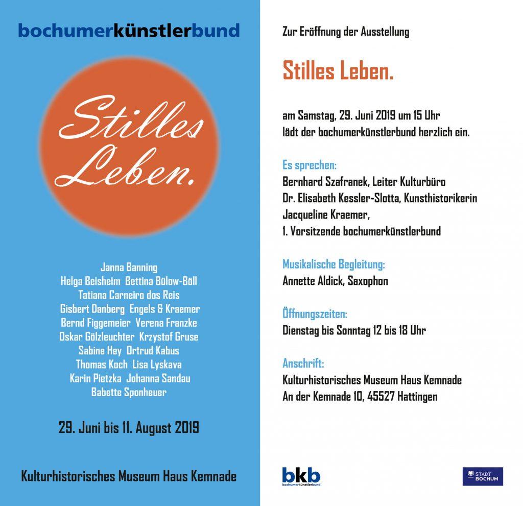 Stilles Leben Kunstraum Bochum Kemnade